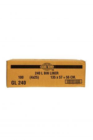 240L Black Bin Liner